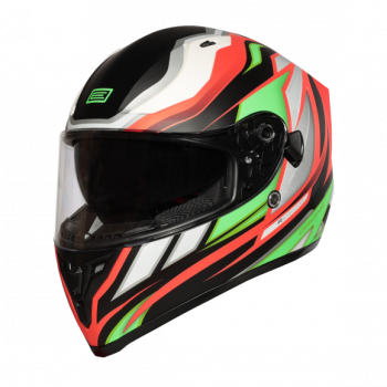 Helma INTEGRALI STRADA REVOLUTION FLUO GREEN-RED-BLACK - Matt Origine 1