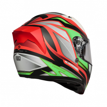 Helma INTEGRALI STRADA REVOLUTION FLUO GREEN-RED-BLACK - Matt Origine 2